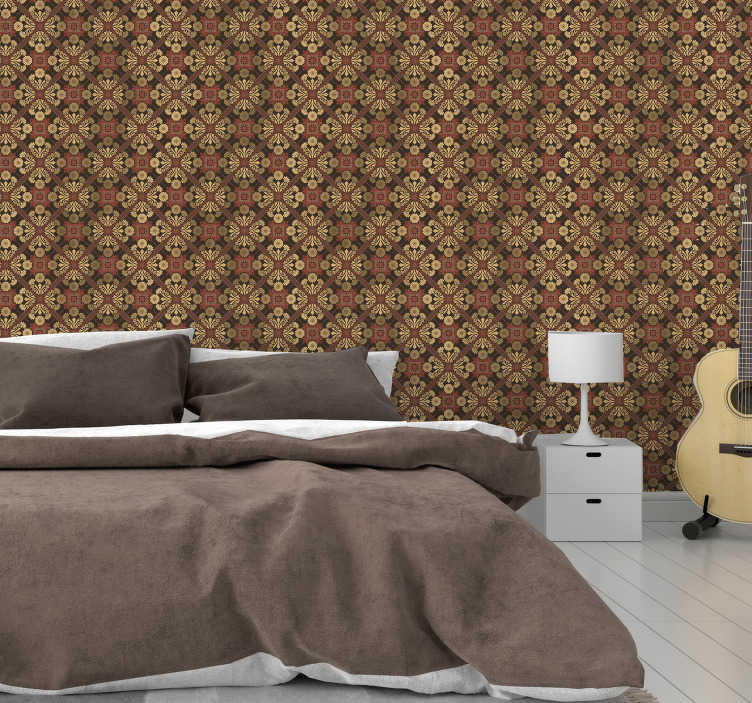 TenStickers. Vintage wallpaper for bedroom. Vintage wallpaper is definitely a thing that your walls need. They will look especially good in your bedroom. Order them online!