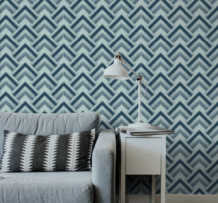 TenStickers. Triangle Wallpaper geometric lines. The design of this living room wallpaper with geometric lines and triangles will transform your rooms into a modern piece of art.