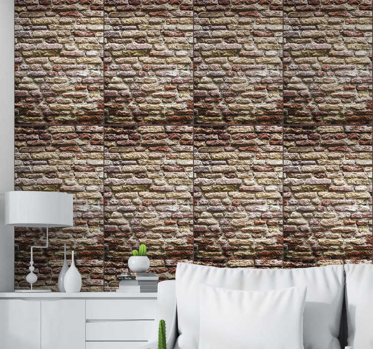 TenStickers. Bricks Brick Wallpaper. Are you looking for something to complement your rustic decor? Then this brick wallpaper is perfect for you! Easy to apply.