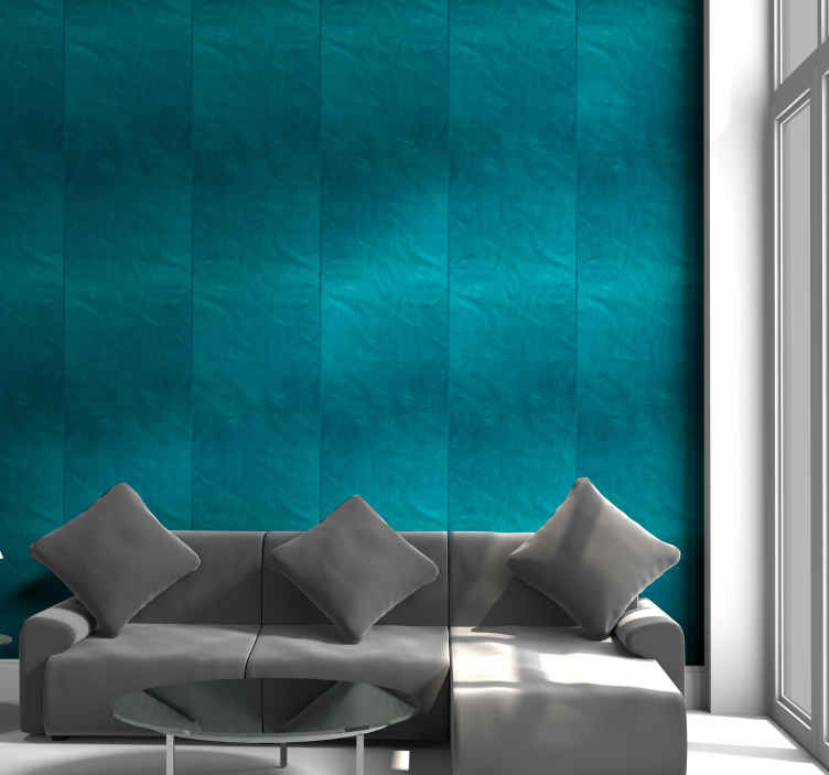 TenStickers. Turquoise Pattern Wallpaper. With this blue wallpaper, your home will gain a new atmosphere that will make you want to spend even more time in your favorite spaces.