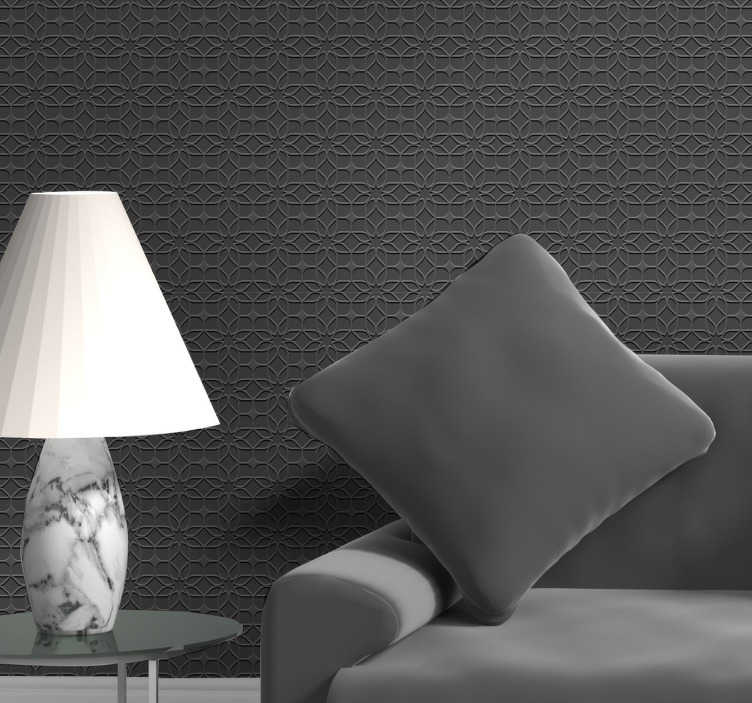 TenStickers. Geometrical Illusion Living Room Wallpaper. Choose this 3d living room wallpaper as your new decoration of walls to quickly and cheaply create an amazing atmosphere!