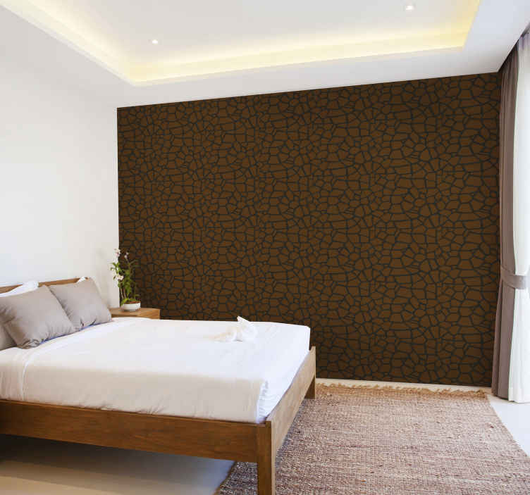 TenStickers. Stone texture bedroom Textured Wallpaper. Buy our exotic stone texture bedroom wallpaper to decorate  in style. It is easy to maintain and can be removed anytime without problem.