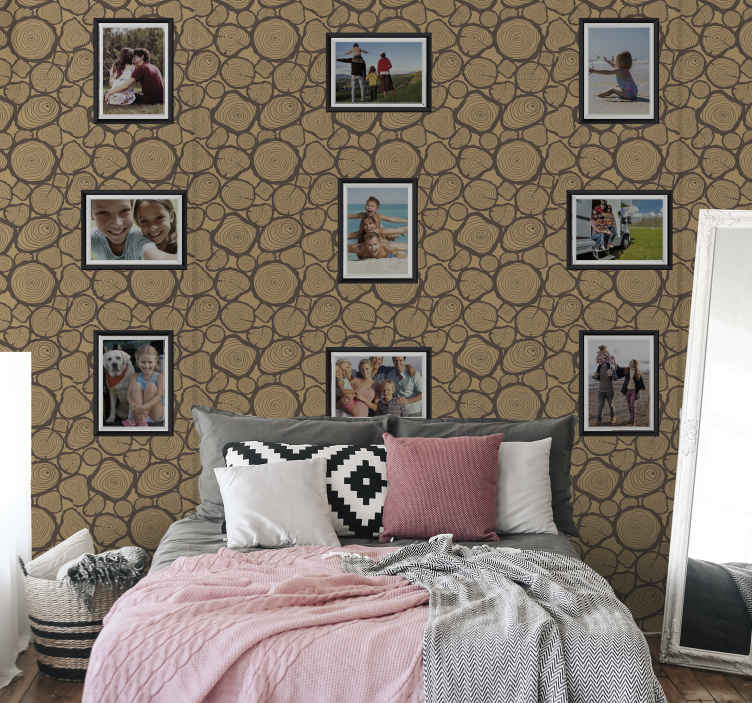 TenStickers. Customizable pictures and images Textured Wallpaper. A modern way to light us your home with our spacial picture frame wallpaper.  Customisable with photo images of yours.  Made of high quality material.