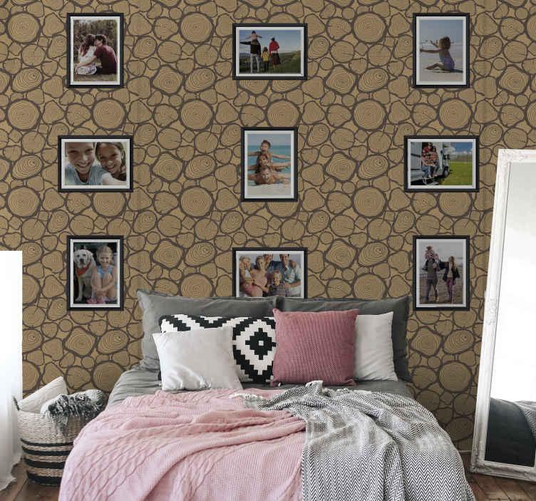 TenStickers. Tilpassede billeder og billeder med tekstureret tapet. En moderne måde at tænde os dit hjem med vores rumlige tapet til billedrammer. Kan tilpasses med fotobilleder af dig. Lavet af materiale af høj kvalitet.