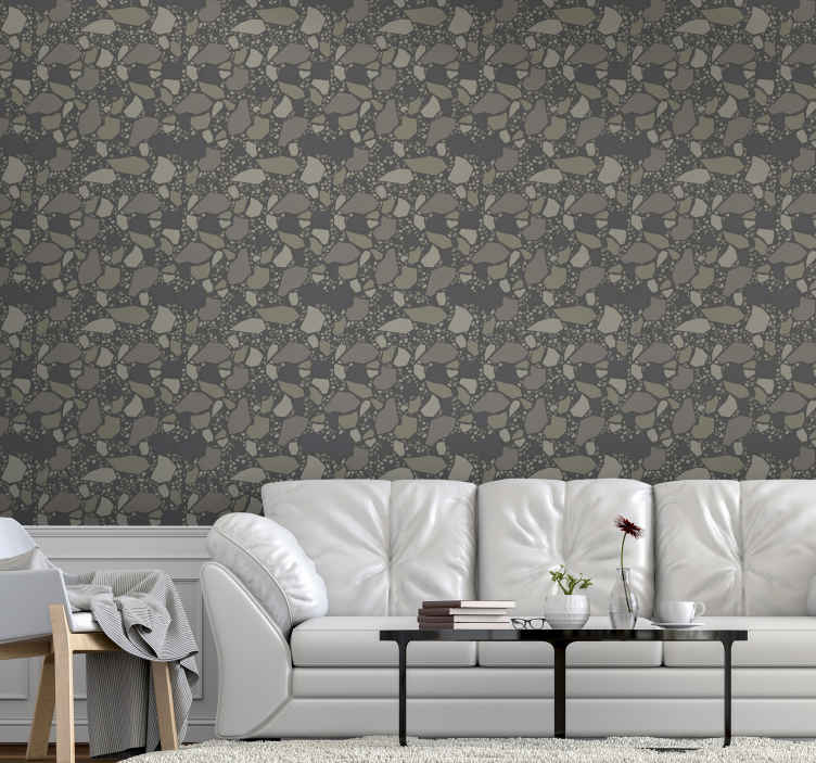 TenStickers. Stone texture Textured Wallpaper. Give your home space a unique and spectacular decoration with our original and luxurious stone texture wallpaper of high quality.