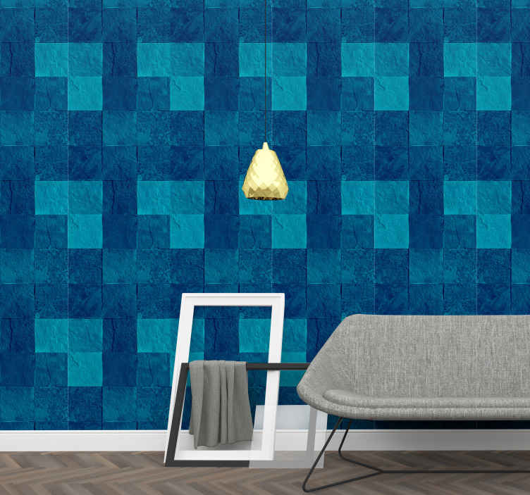 TenStickers. Blue marble texture Marble Effect Wallpaper. A fantastic and beautiful marble texture wallpaper ideal to add an amazing effect on your space. It is original and made with high quality material.