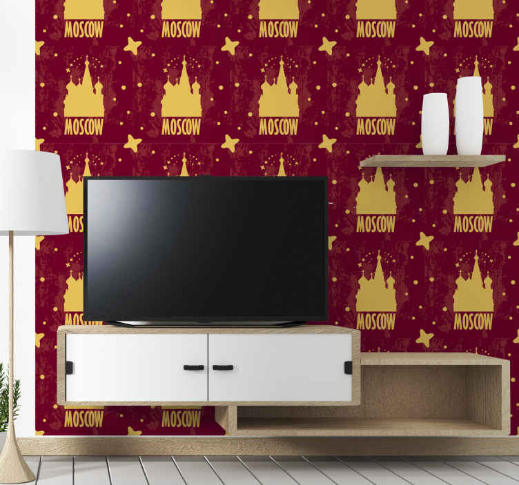 TenStickers. Moscow Cathedral Feature Living Room Wallpaper. Give your home a spectacular and original decorative touch with our city theme wallpaper design of Moscow Cathedral. It is original and easy to apply.