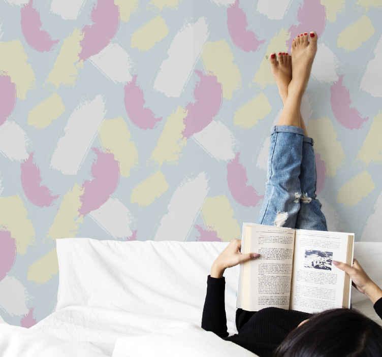 TENSTICKERS. カラフルな印象派の壁紙. カラフルな印象の壁紙があなたのリビングルームや他のスペースを飾ります。あなたのスペースを変えるためにカラーパターンの壁紙デザインのペイントされたブレンド。