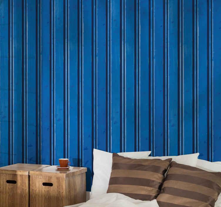 TenStickers. Mørkblå stribet tapet med struktur. Simpelt lodret mørkeblåt stribetapet til at dekorere ethvert rum efter eget valg. Let at anvende stribe tapet til børneværelset og andet rum.