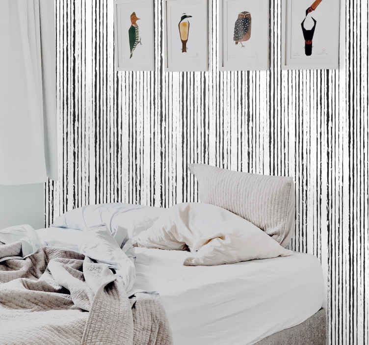 TenStickers. Corrugated vertical Striped Wallpaper. Be daring and add something extraordinary to your home with our corrugated stripe texture wallpaper. It is original, durable and easy to apply.