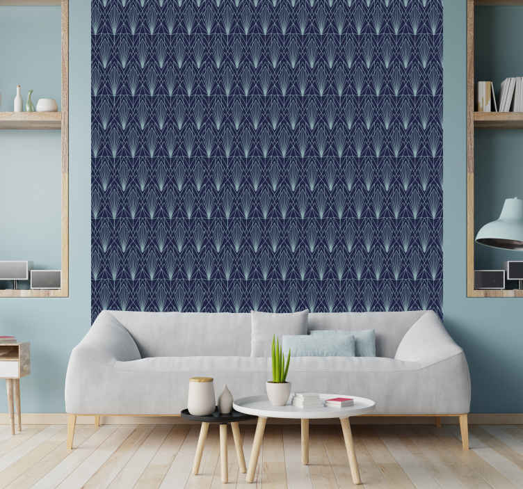 TenStickers. Dark Art Deco Bedroom Wallpaper. Applying to the wall is really easy, you have to buy the application spatula from the website if you don't already have it