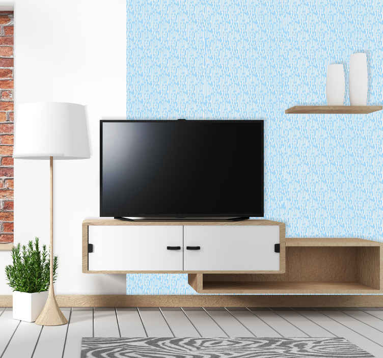 TenStickers. Scandinavian Lines Striped Wallpaper. You can magnify the appearance of your home with a simple touch in our decorative patterned wallpaper design of vertical lines on blue background.