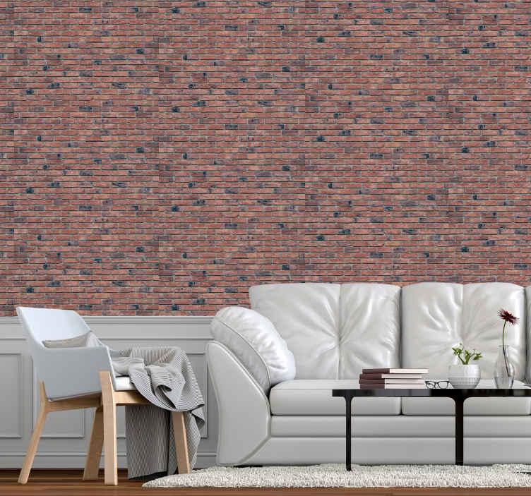 TenVinilo. Papel pared ladrillo tonos rojizos. Una casa solo se llama hogar cuando se siente cómoda y amigable. Pon este papel pared ladrillo y decora tu hogar a tu gusto ¡Compra online!