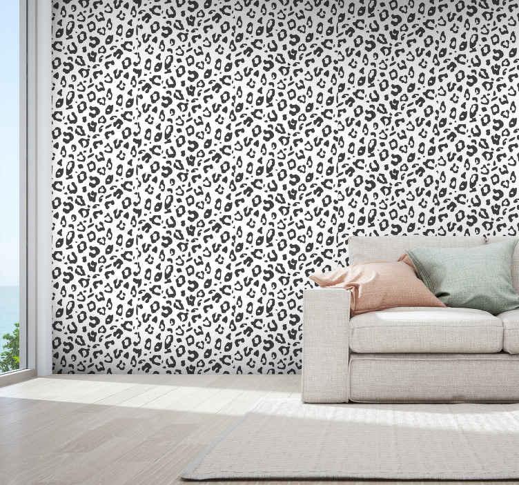 TenVinilo. Papel pared animales piel de leopardo . Da vida a tu hogar con nuestro interesante diseño de papel pared animales con estampado de leopardo. Alta calidad ¡Envío express!