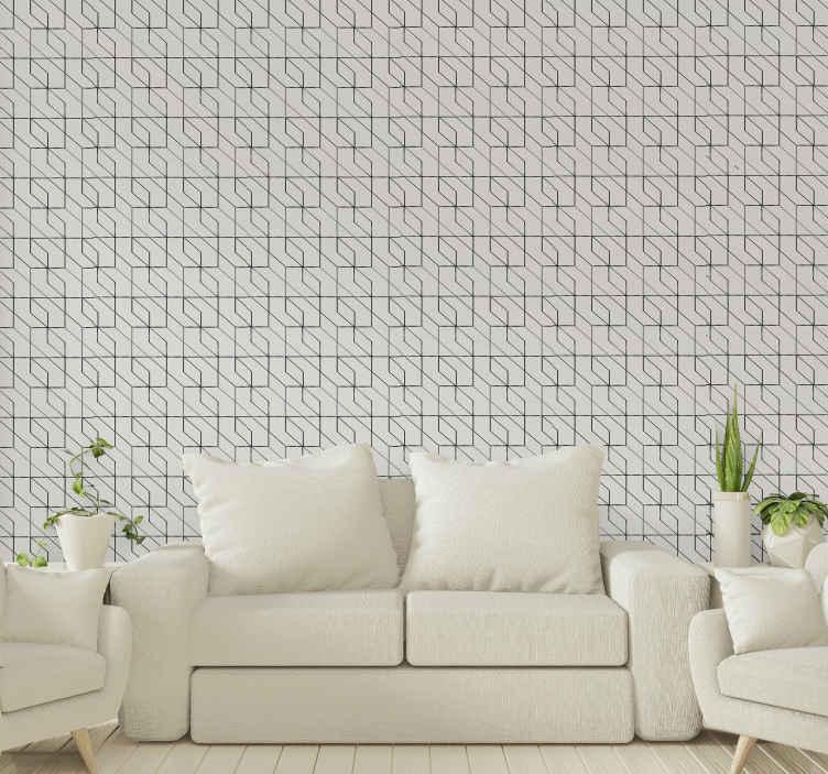 TenStickers. Geometrik haç figürleri salonu duvar kağıdı. Basit desenli duvar kağıdı mı arıyorsunuz? Evet ise, aramanız burada bu basit klasik geometrik duvar kağıdıyla biter.