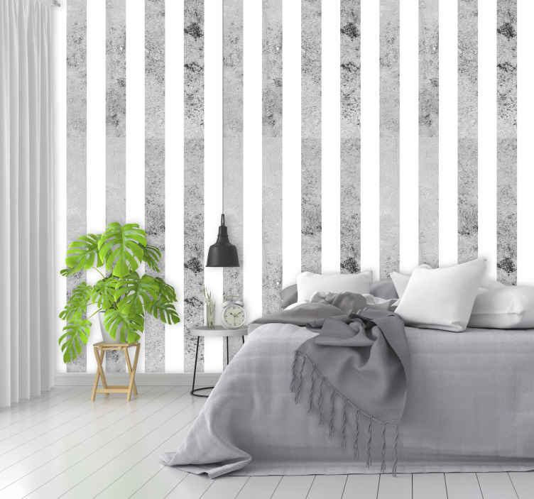 TenStickers. Grey stripe concrete Textured Wallpaper. If you are trying to find a concrete wallpaper but all of them seem to look the same then lay your eyes on this superb design!