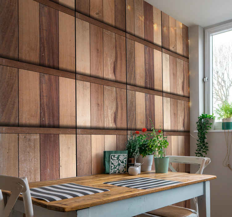 TenStickers. Brown Relaxation Textured Wallpaper. This magnificent textured wallpaper imitating wood is the missing accessory in your home decor! Easy to apply and will last for many years.