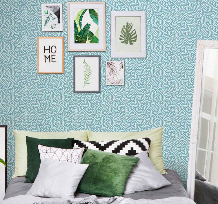 TenStickers. Papier peint fleur moderne Corail abstrait. stickers papier peint fleur de corail pour la décoration de la chambre, du salon, de la cuisine, de la salle de bain, etc. Il est original, durable et étanche.