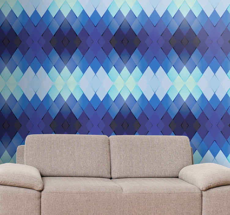 TenStickers. 3D wallpaper geometric figures Wallpaper. The perfect way to decorate any space in your room with this beautiful 3D geometric figures wallpaper. High quality product.