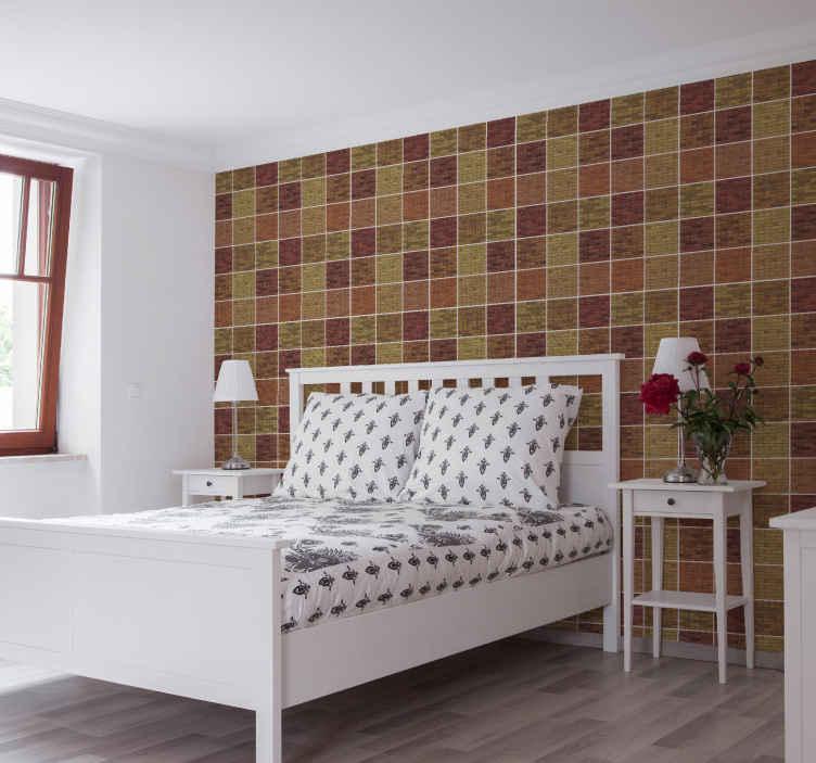 TenStickers. çok renkli tuğla doku etkisi duvar kağıdı. Bu çok renkli tuğla efektli doku duvar kağıdıyla evinizdeki herhangi bir odaya canlı getirin. Orijinal, dayanıklı ve uygulaması kolaydır.