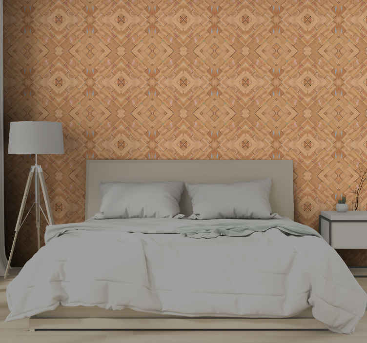TenStickers. Orange tones texture brick effect wallpaper. That simple vintage look you would love on your bedroom space can be achieved with this orange tones texture patterned wallpaper.