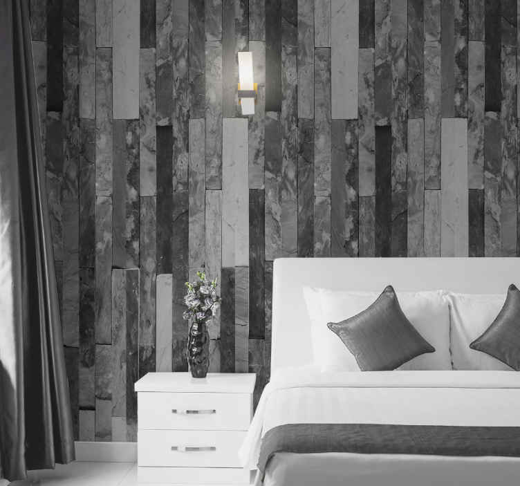 TenStickers. Wallpaper modern cool brick wallpaper. Give your room a cooler and more modern look today with our original stone wallpaper. Have your rooms energy changed forever now!