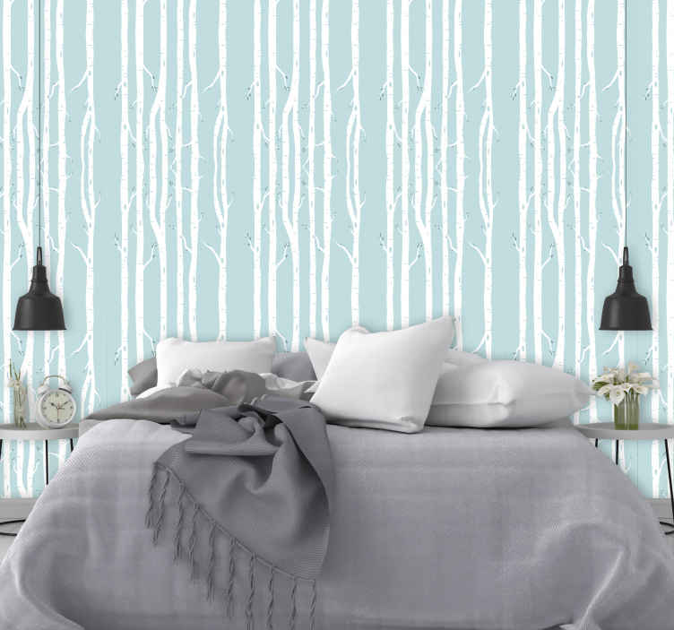 TenStickers. Winter Trees palm tree wallpaper. Our winter wallpaper will really make you feel like you are experiencing cold winters such as the ones in Scandinavia! Get the winter feeling now!