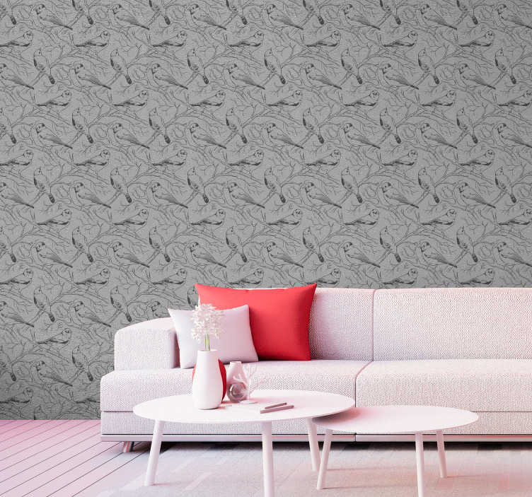 TenStickers. Concrete Sky Pattern Wallpaper. Our patternd wallpaper is an excellent alternative to traditional decorating methods, easy to apply, and made with high quality materials.