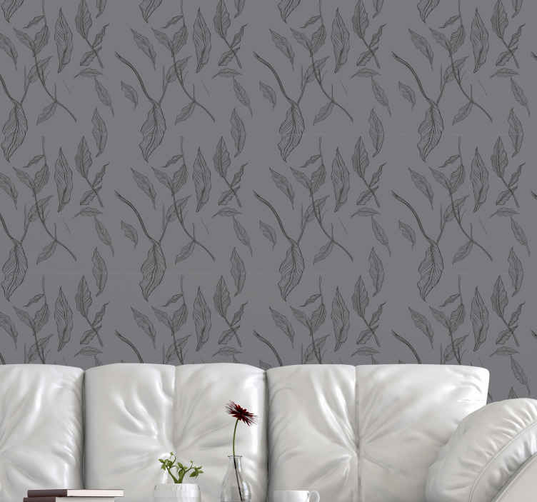 TenStickers. dark magical leaves room wallpaper. Dark magical leaves room wallpaper to enhance your bedroom or living space. You would love the way this design would revamp your home.