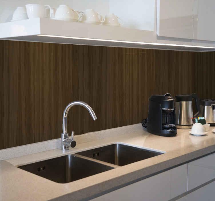 TenStickers. Carta da parati legno Modello in legno simmetrico. Carta da parati simmetrica effetto legno per la tua cucina. Il disegno può essere decorato su altre aree di una casa. è facile da applicare e durevole.