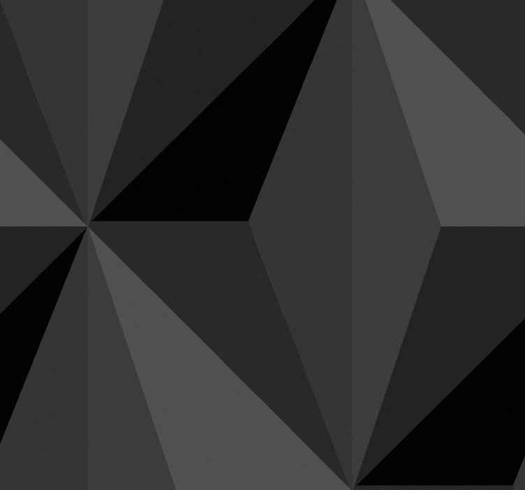 TenStickers. Tapeta do salonu Geometryczne trójkąty 3d. Geometryczny trójkąt 3d tapeta z czarną fakturą. Jest realistyczny i chciałbyś to. Jest łatwy w aplikacji i kleju.