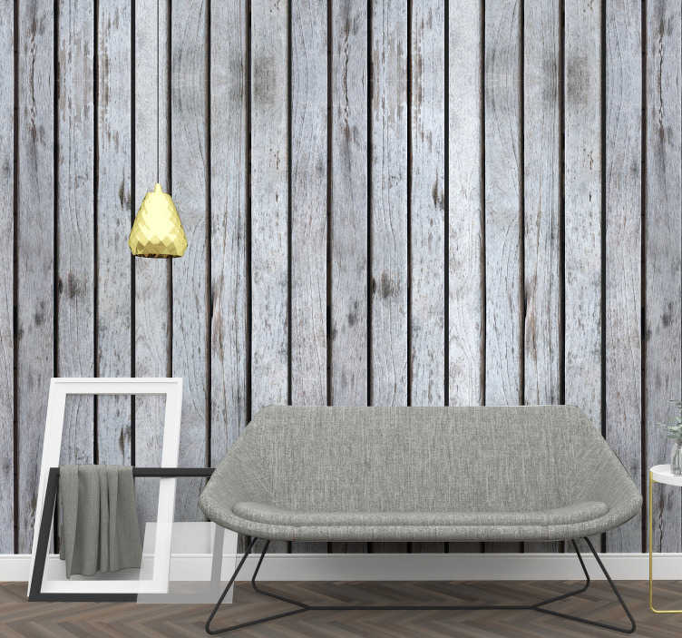 TenStickers. Milky Land Pattern Wallpaper. Magnificent textured vinyl wallpaper imitating gray wood perfect for decorating any room in your home. Produced from an excellent vinyl.