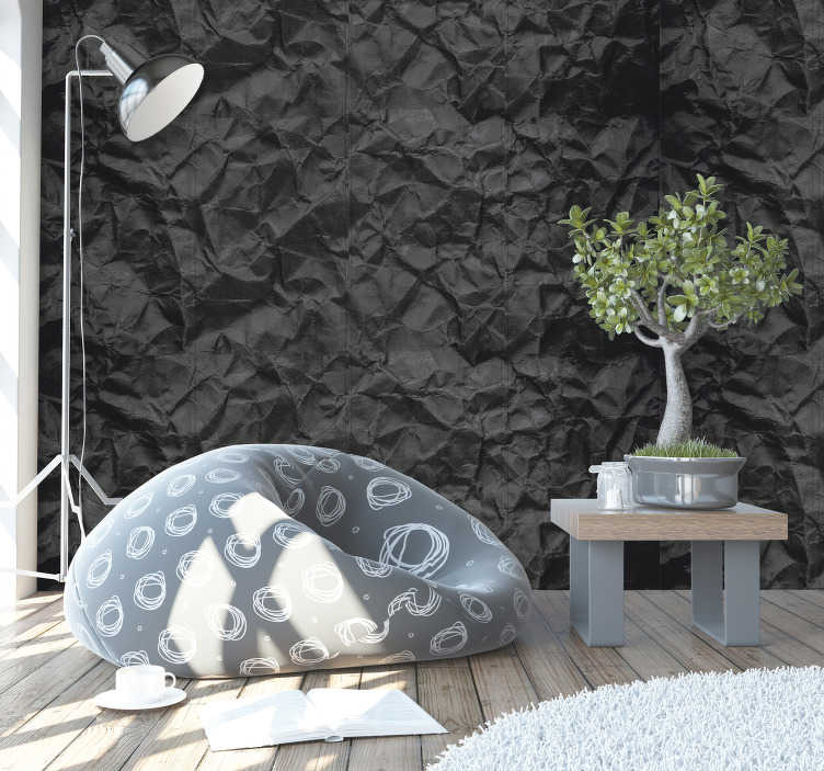 TenStickers. Sooty Pattern Wallpaper. Make your home or business a space with an exclusive and super original decoration with this wonderful dark textured wallpaper.