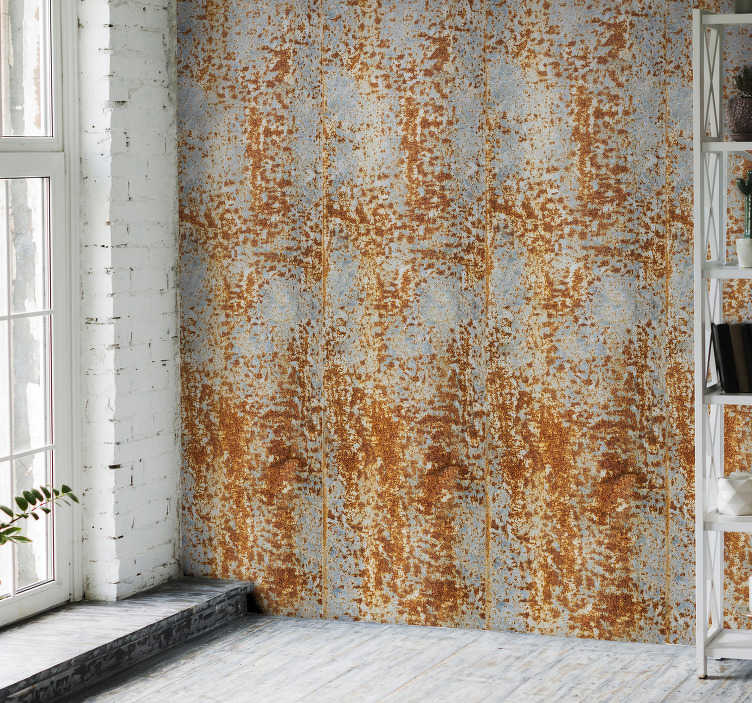 TenStickers. Wallpaper rusty sky pattern. Unconventional and unusual textured wallpaper that will make your room stand out from the crow. Do not wait more, order it now online!