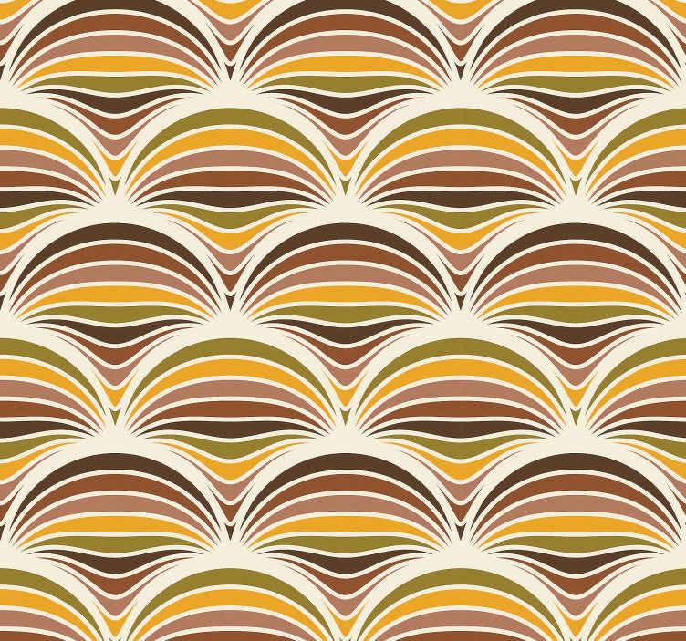 TenVinilo. Papel pared vintage soles coloridos de los 70. Papel pared vintage para salón o comedor con diseño de soles de los 70 coloridos con los que podrás decorar tu casa ¡Envío exprés!