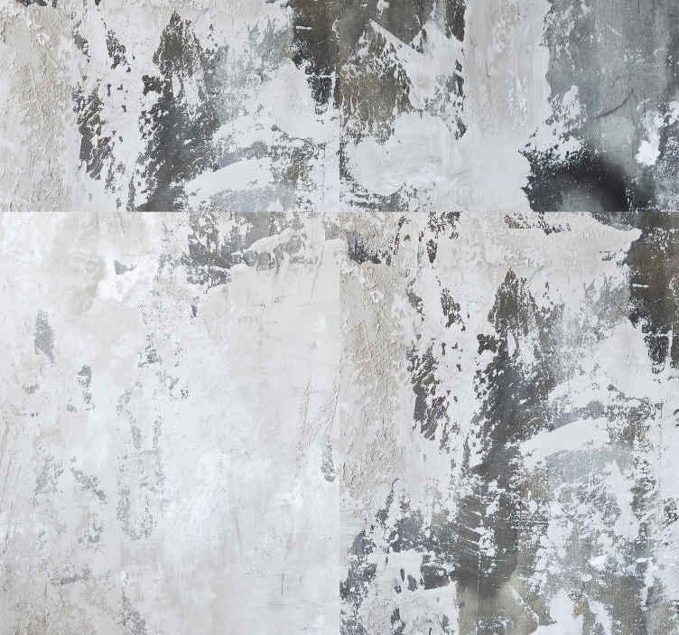 TenStickers. Mørk sammensætning moderne tapet. Forny væggene i dit soveværelse eller stue med dette vidunderlige abstrakte tapet med et mønster med forskellige fyld.