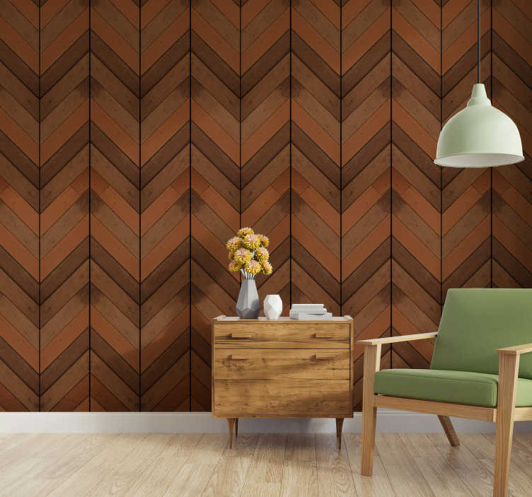 TenStickers. Complicated System Pattern Wallpaper. Let go of the dull white walls and decorate your home in an original way with this sublime wood texture wallpaper in shades of dark brown.