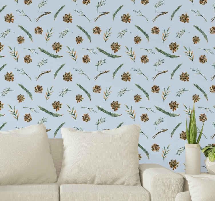 TenStickers. Papier peint fleur Aquarelle floral bleu. Vous pouvez dire à quel point votre espace apparaîtrait avec ce papier peint floral aquarelle étonnant. Il est original, durable et de bonne qualité.