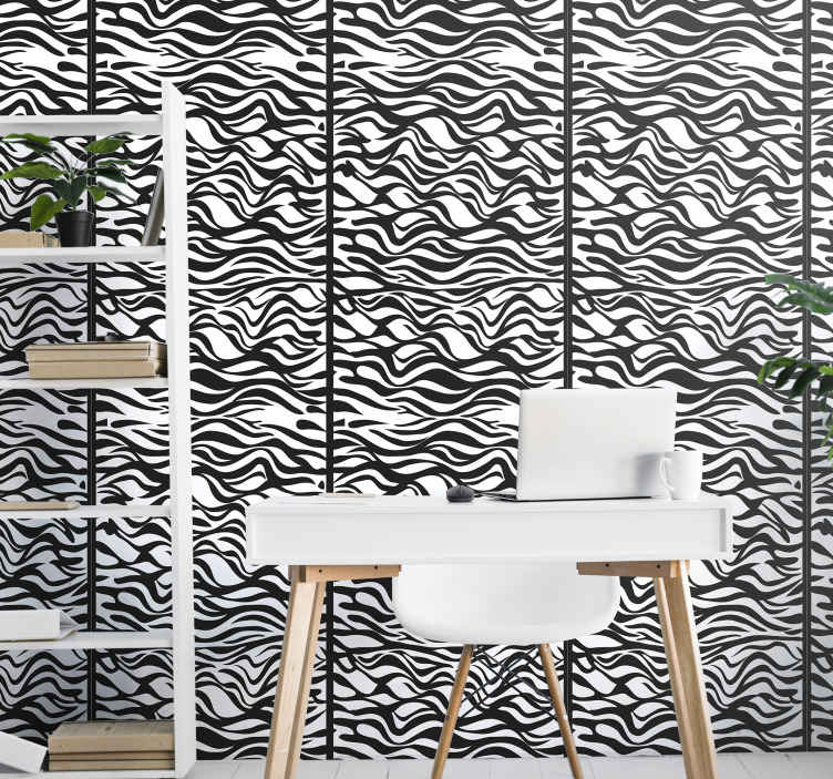 TenStickers. Zebra arka plan baskı duvar kağıdı. Sevimli ve orijinal bir siyah beyaz zebra desenli duvar kağıdı mı arıyorsunuz? Bu havalı zebra desenli duvar kağıdı mükemmel olur.