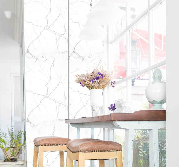 TenStickers. Carta da parati marmo Marmo bianco. Un modo pratico ed economico per arredare la tua casa e lasciare tutti sorpresi dal tuo buon gusto! Cosa stai aspettando!