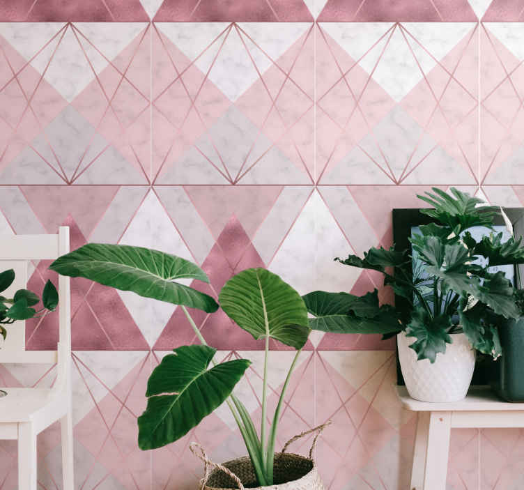 TenStickers. Pink and grey marble Marble Effect Wallpaper. Pink and gray marble background with pink and gray wallpaper to decorate your home, giving it a charming and original look