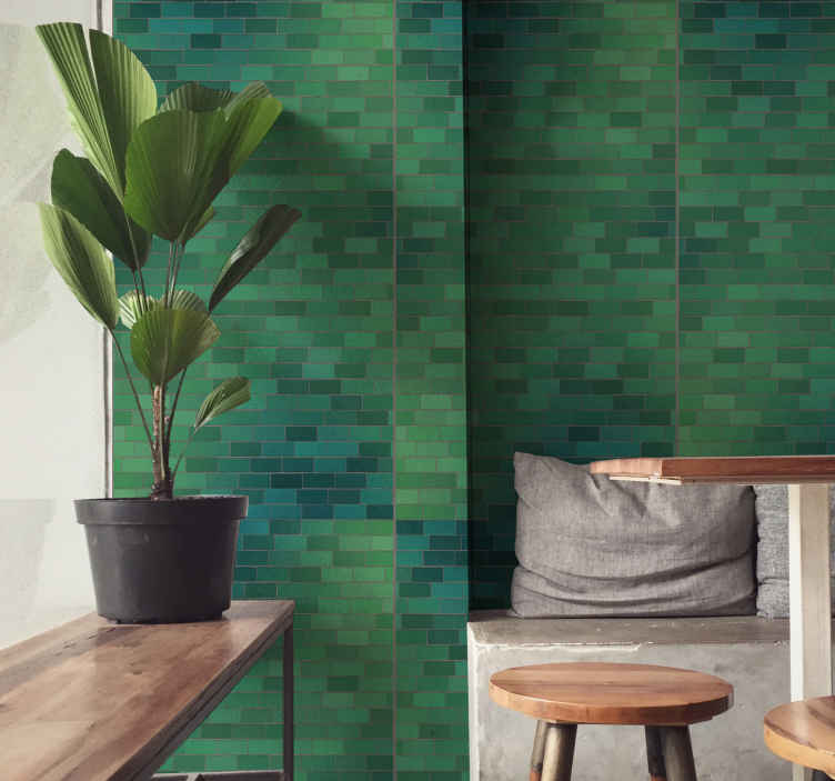 TenStickers. Into the Woods Brick effect wallpaper. Give your boring walls a much more beautiful look today with this wood wallpaper with a brick theme. Order it from our website today and have it soon!