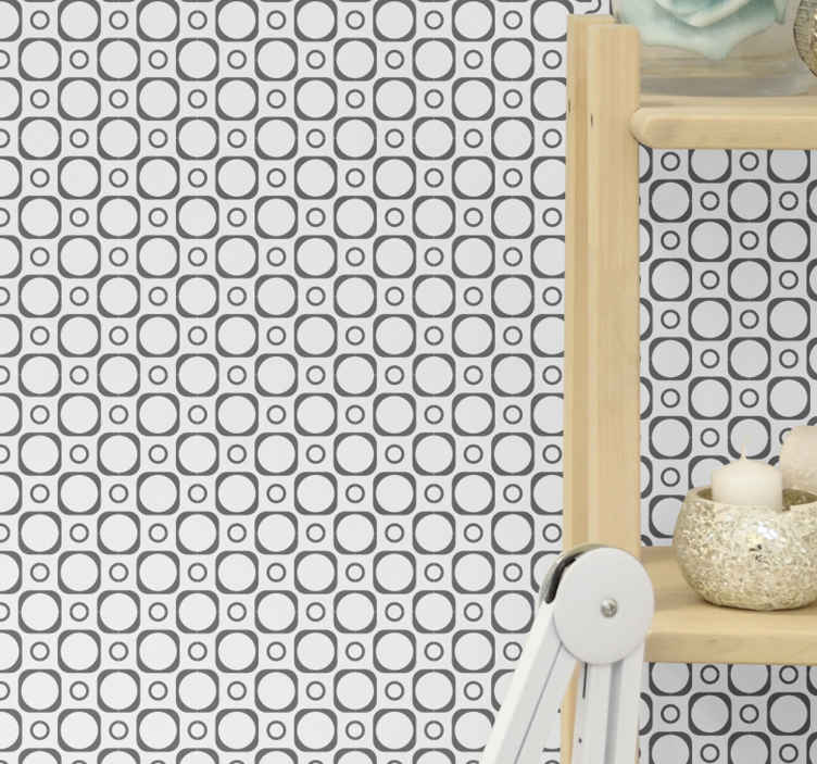 Bathroom Wallpaper Black And White Tiles Tenstickers