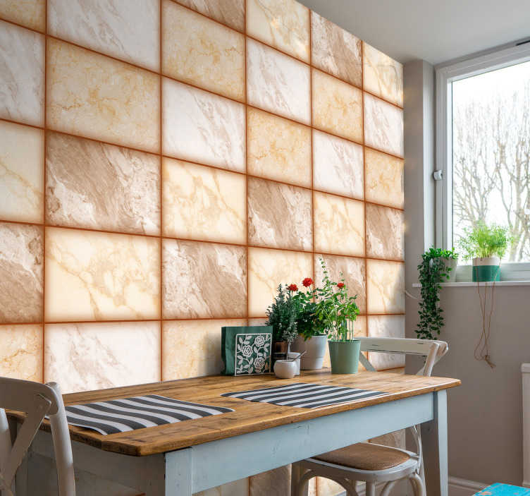 TenStickers. Marble Texture Wallpaper. It's time for you to enter the 21st century in style with this awesome orange marble texture wallpaper. Free worldwide delivery available!