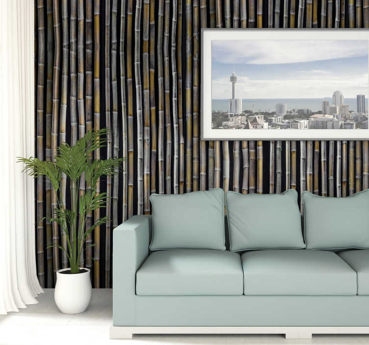 TenStickers. Patterned Wallpaper Bahama yellow. This modern living room wallpaper will look amazing in your house. Order it now and teleport yourself to the Bahamas to enjoy coctails and sun!