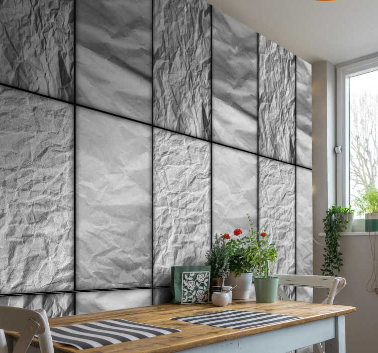 TenStickers. Abstract wallpaper freezing winter nights. Patterned wallpaper that will bring a lovely finishing touch on your bedroom, living room or kitchen. Order it now and enjoy your new decoration.