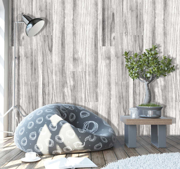TenStickers. Wallpaper wood texture cloudy morning. This wood textured wallpaper is a perfect decoration for every place in your house This will look amazing in a living room, dining room or hall.