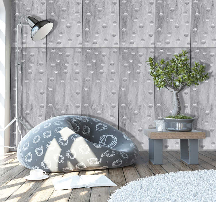 TenStickers. Puzzle Bubles Pattern Wallpaper. Looking for something that will bring life to your decoration, then this concrete style wallpaper is perfect for you. Instructions included.