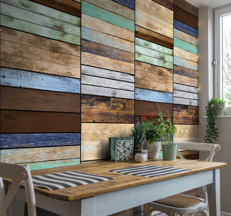 TenStickers. Wallpaper Solar range pattern. This unusual wood texture wallpaper will create a cosy and rustical atmmosphere in your home. Order it now in any size you need.