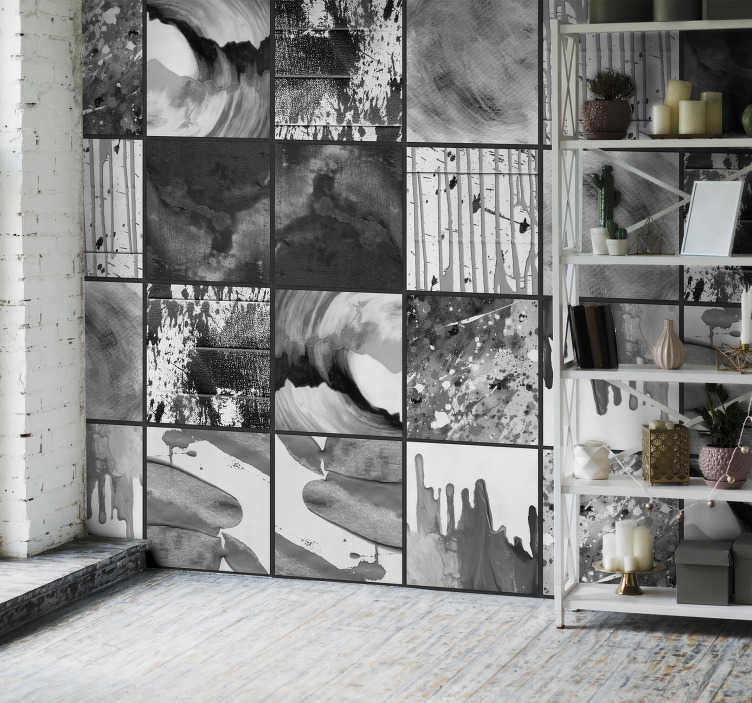 TenStickers. Urban Watercolour Art Modern Wallpaper. Get lost in the urban jungle that is this incredible abstract city art wallpaper. Free worldwide delivery available now!